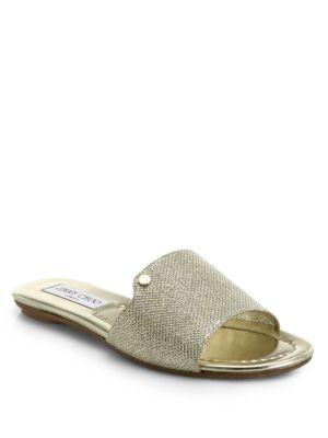 Jimmy Choo Mesh Slide Sandals