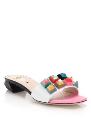 Fendi Pink flip flops - Multicolour