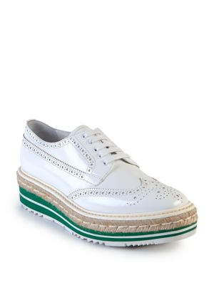 Prada Platform Brogue Oxfords