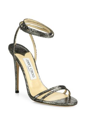 amazing price sale online cheap shopping online Jimmy Choo Leather Ankle Wrap Sandals FIQnYu