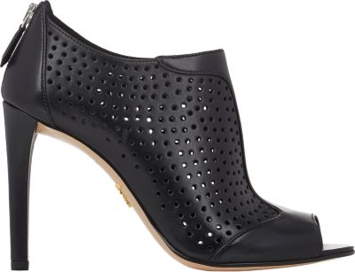 Popular Cheap Price Prada Perforated Peep-Toe Booties Cheap Collections h573AvO6