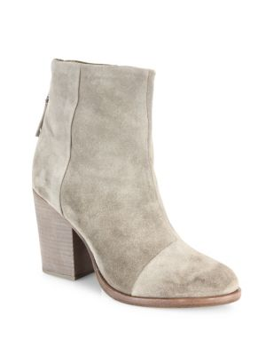 Ashby Suede Booties, Stone