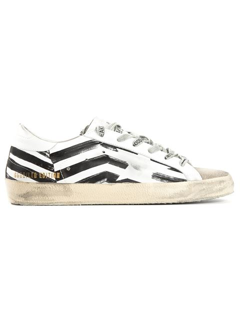 Superstar White Flag Leather Sneakers