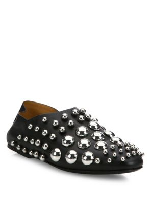 ALEXANDER WANG Edie Convertible Studded Leather Slipper, Black