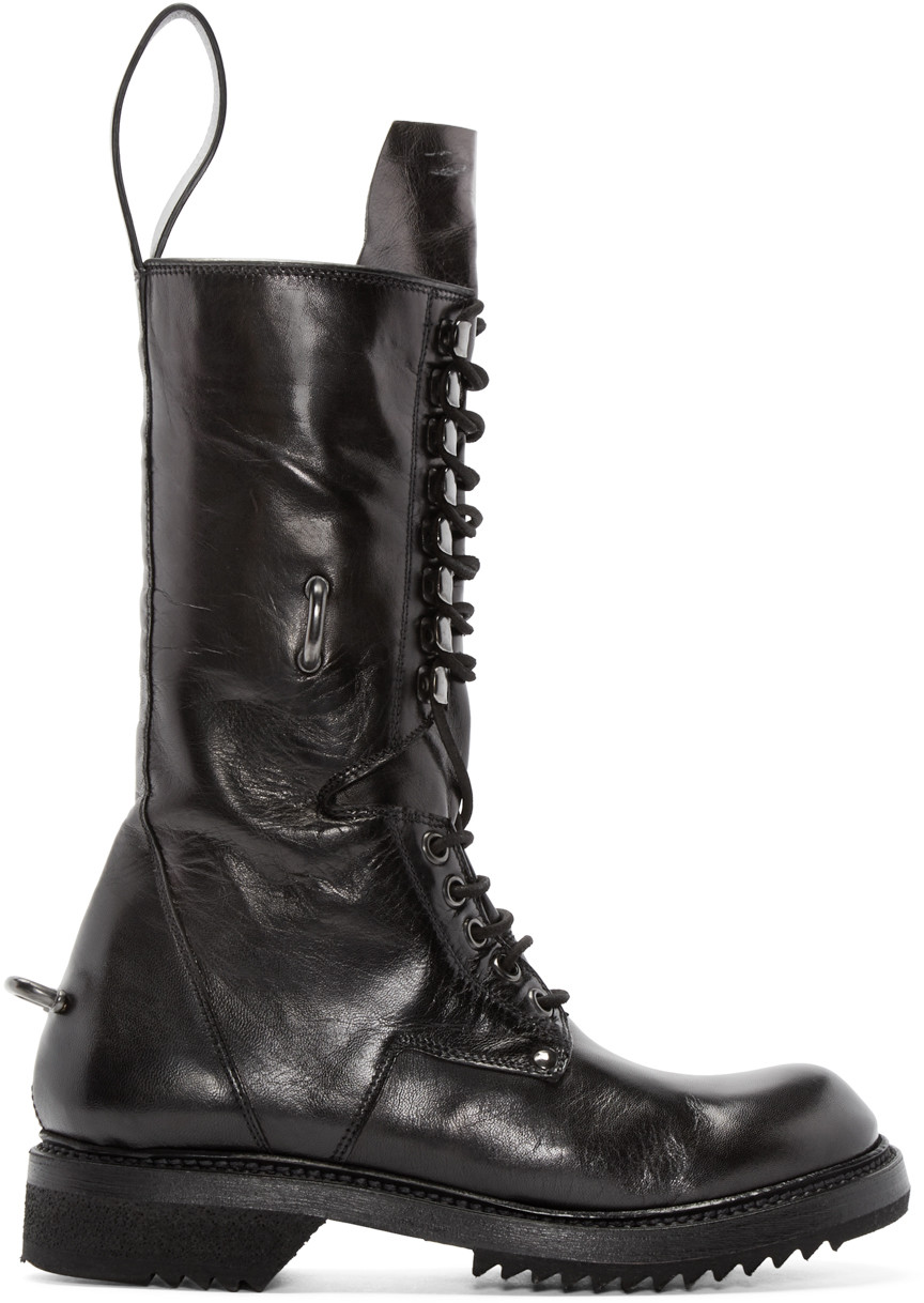 Rick Owens low army boots - Black Discount Extremely Free Shipping Largest Supplier Outlet Footlocker Pictures Outlet Manchester Under 70 Dollars Mg0AVQ25W