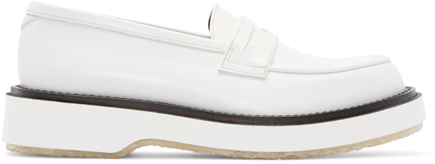ADIEU Loafers, White