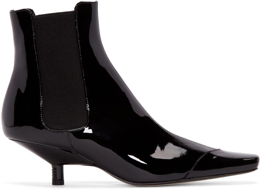 67b05da07d844 LOEWE Black Patent Leather Chelsea Boots | ModeSens