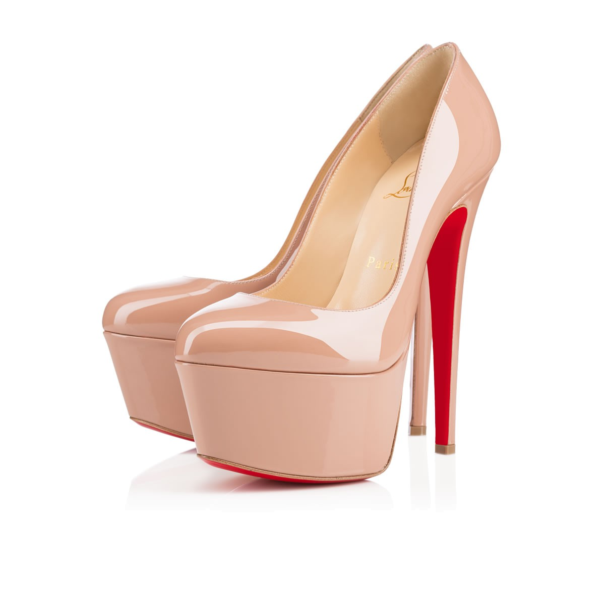 cc8a7a7a4cb ... discount code for christian louboutin daffodile 160mm nude patent  leather a1a6e 9040f ...