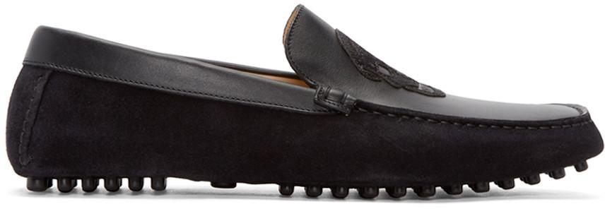 Alexander McQueen Suede Skull-Accented Loafers Discount Real Sale Amazon Hyper Online Footlocker Finishline Online zC73MhaP4O