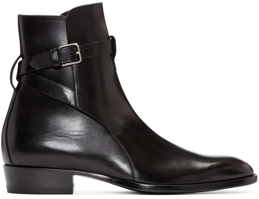 Wyatt Jodhpur Boot In Smooth Leather, Black