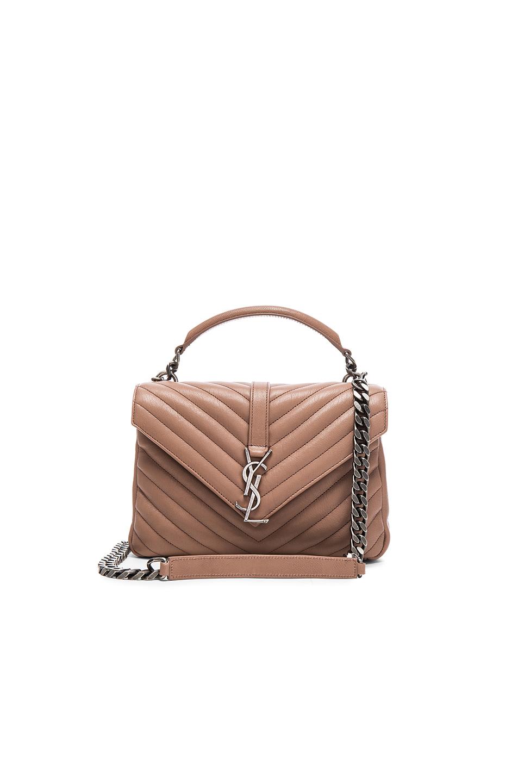 Saint Laurent Monogram Medium College Shoulder Bag, Blush In Fard 460528ab19