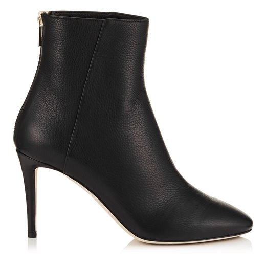 Duke 85 Black Grainy Calf Leather Ankle Boots