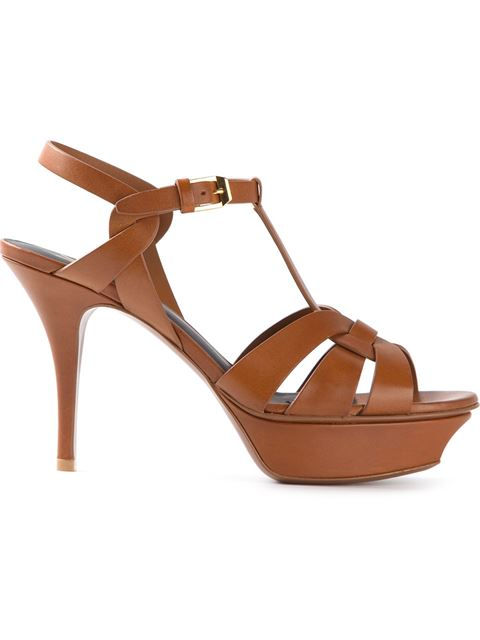 Tribute 105 Sandals In Amber Studded Leather
