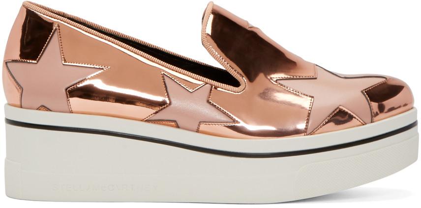 00e60c5eae4 Stella Mccartney Binx Metallic Star Slip-On Sneaker