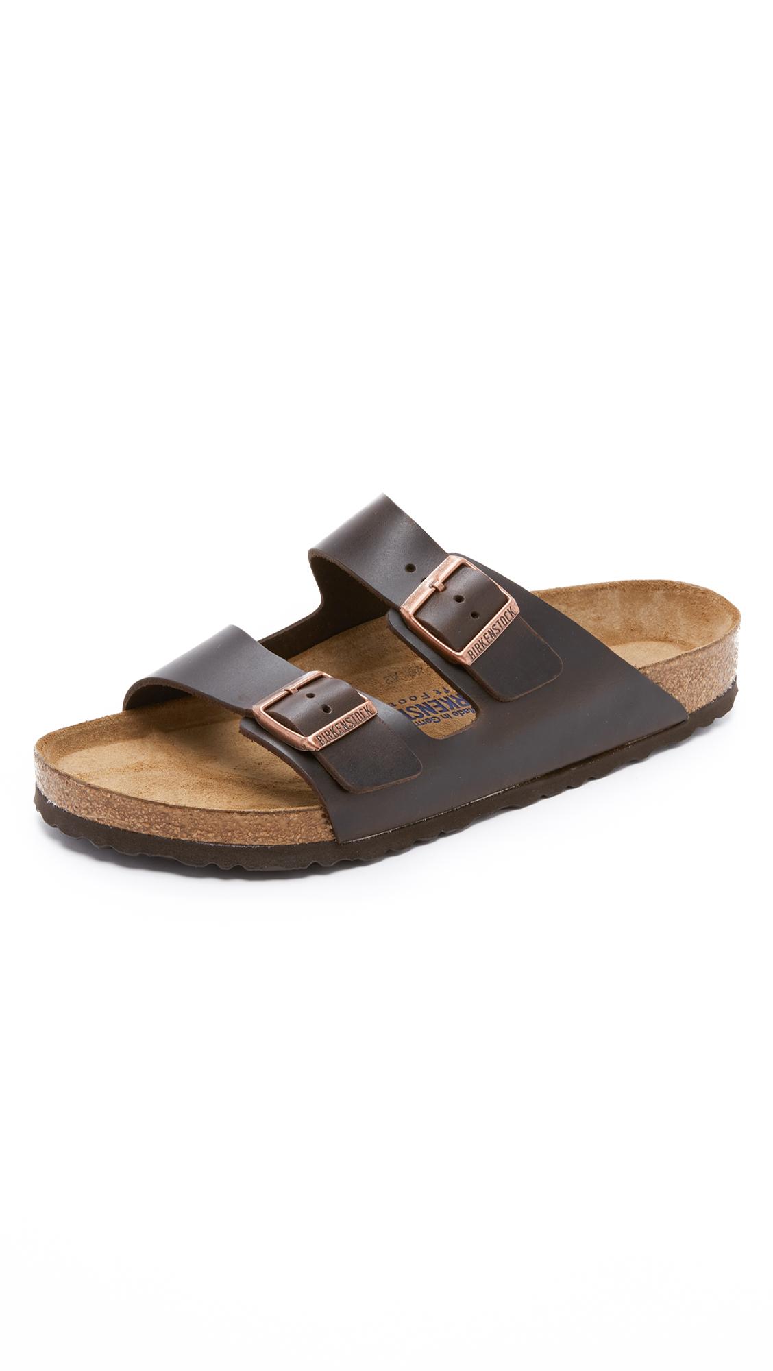 BIRKENSTOCK Men'S Arizona Leather Sandals Men'S Shoes in Brown