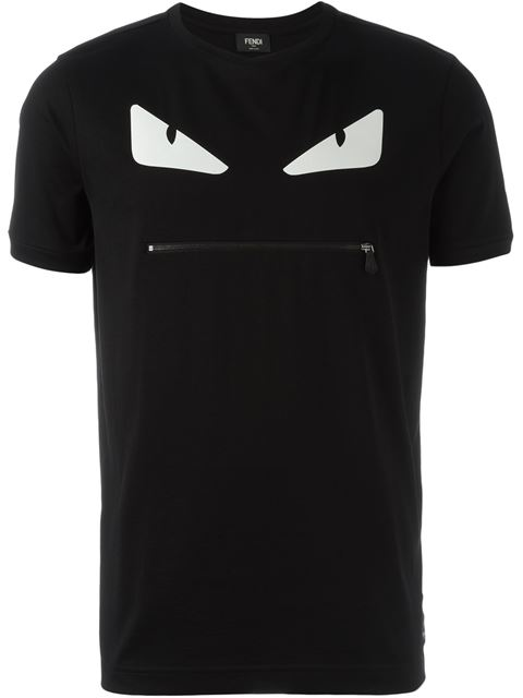 Black-White Bag Bugs Cotton Jersey T-Shirt