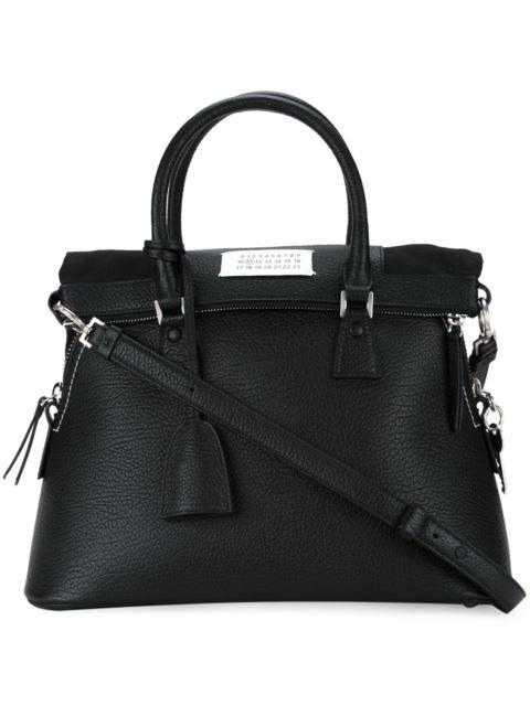 Medium 5Ac Leather Handbag - Black