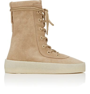 Crêpe Suede Boots (Season 2) in Neutrals