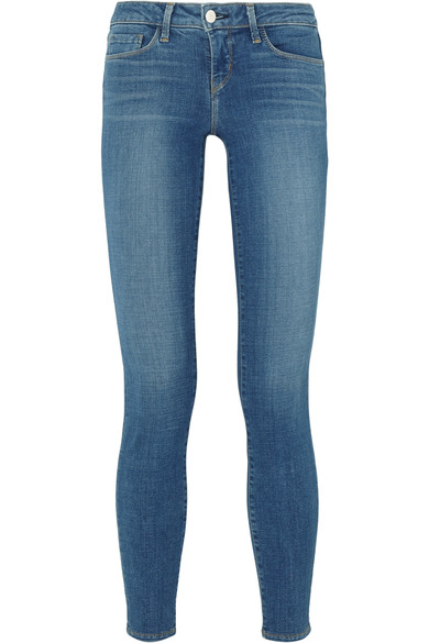 Margot Cropped High-Rise Skinny Jeans, Dark Vintage