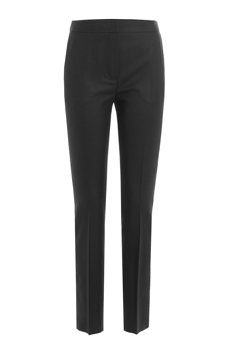 Woman Anemone Wool-Blend Crepe Straight-Leg Pants Black