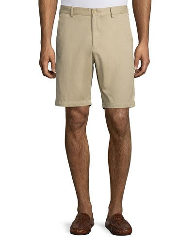 Lightweight Twill Shorts, Retro Pink, Khaki