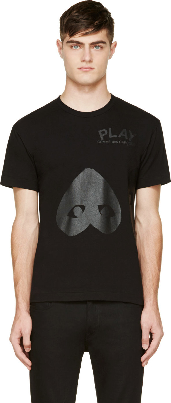 03f942ff4cd3 Comme Des GarÇOns Play Comme Des Garcons Play Black Upside Down Heart T- Shirt In