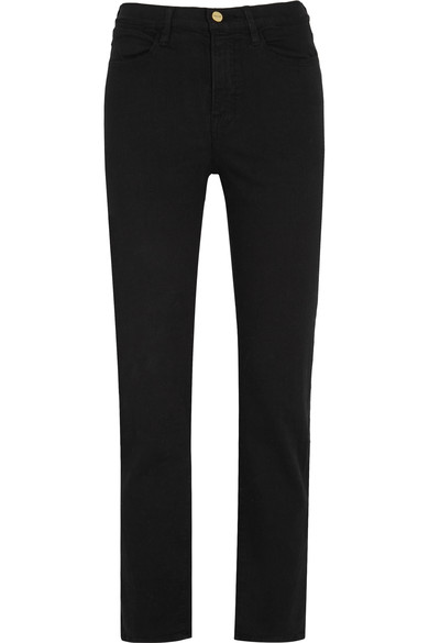 Ali High Rise Cigarette Jeans - Black Size 32