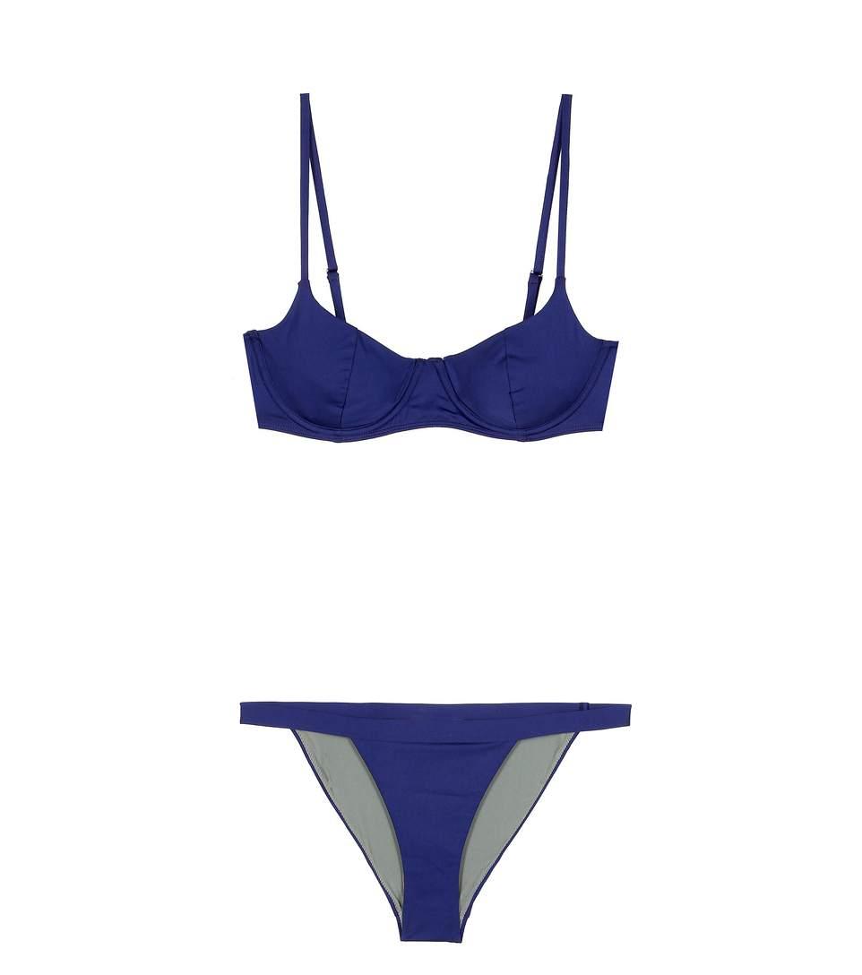BOWER SWIMWEAR Pussycat Bikini in Blue