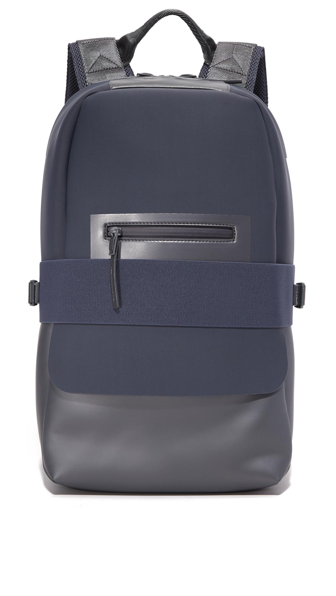 83fed44e226d Y-3 Blue   Grey Small Qasa Backpack In Night Metallic