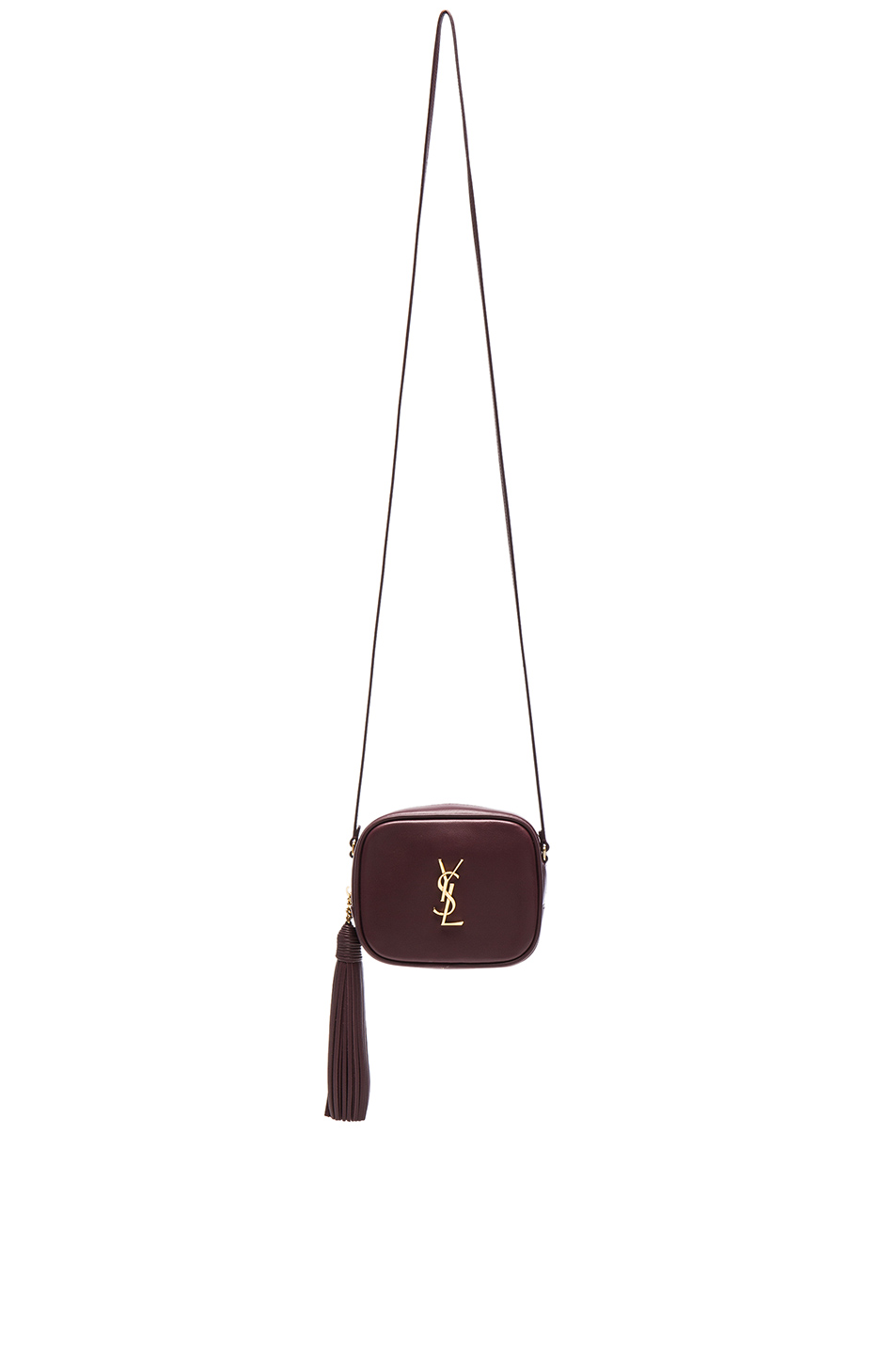Saint Laurent Monogram Blogger Crossbody Bag In Bordeaux   Black ... 069f15dabef9b