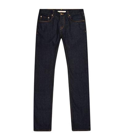Slim Fit Stretch Japanese Selvedge Denim Jeans - Blue Burberry Purchase Cheap Sale Professional aoqtv41M4