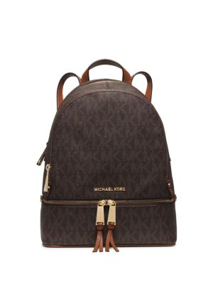 45ba55e196f2 spain michael kors kelsey large backpack handbags accessories macys e3851  39b59  ireland michael michael kors rhea medium faux leather backpack in  brown ...