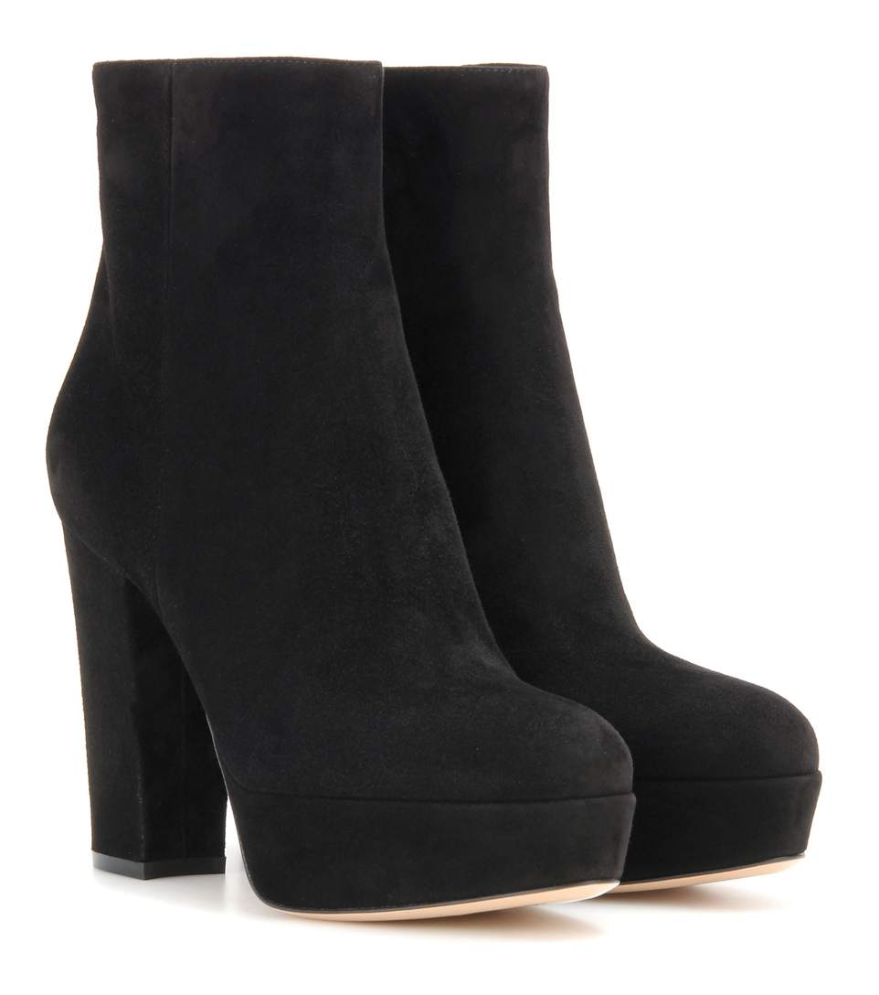 Exclusive To Mytheresa.Com - Suede Platform Ankle Boots, Llack