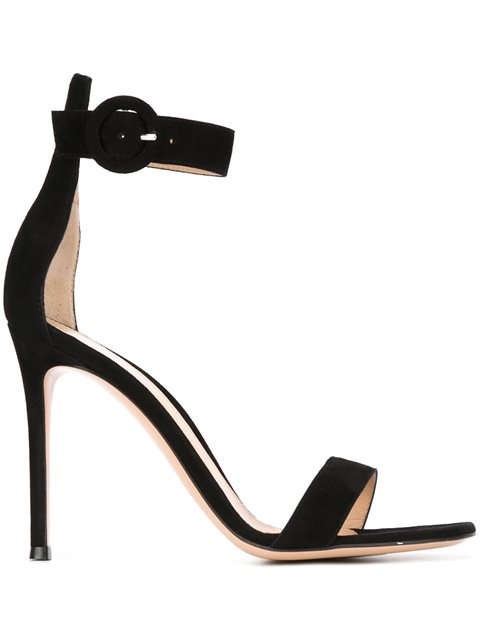 Portofino Suede Ankle-Strap Sandals - Forest Size 9.5 in Black