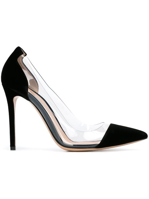 Plexi 105 Black And Nude Patent Pumps from Gilt