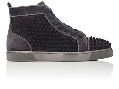 b0924201733 CHRISTIAN LOUBOUTIN Spiked Louis Flat High-Top Sneakers