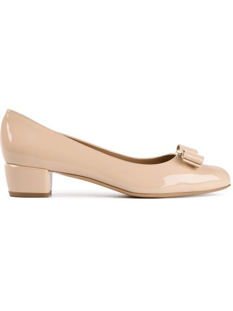 Vara 1 Patent Bow Pump, New Bisque, Neutral, Nude & Neutrals