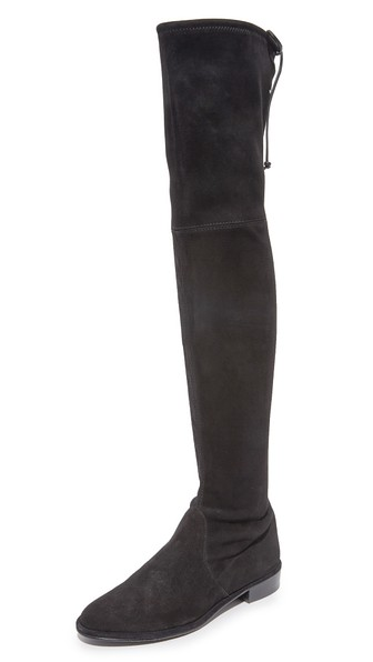 Lowland Over The Knee Boots, Black