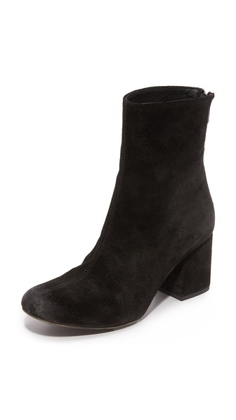 'Cecile' Block Heel Bootie (Women) in Black