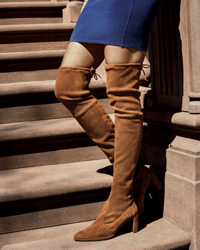 75a898aee48 STUART WEITZMAN WOMEN S TIELAND SUEDE OVER-THE-KNEE BOOTS