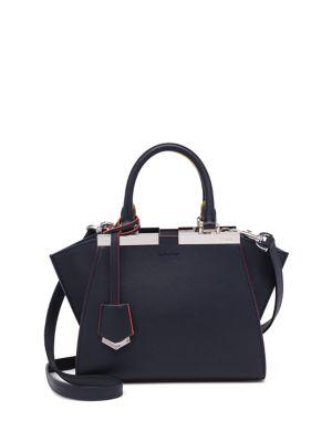 Calfskin 3Jours Mini Shopping Bag, Dark Blue