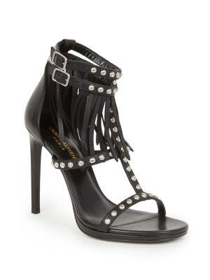Saint Laurent Studded T-Strap Sandals Shopping Free Shipping How Much Best Wholesale Online Outlet Deals Sale Official BWJoz