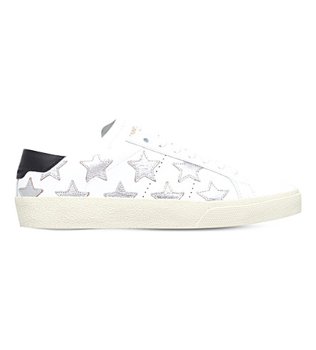 Signature Court Classic Sl/06 California Sneaker In White And Silver Leather