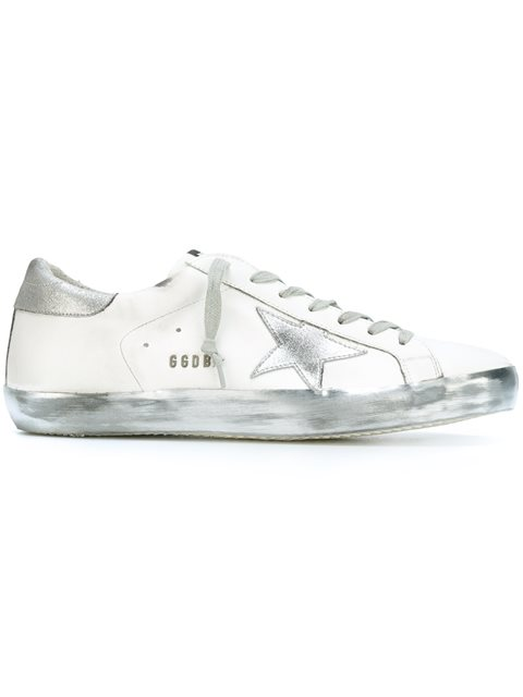 GOLDEN GOOSE Men'S Shoes Leather Trainers Sneakers Superstar, White