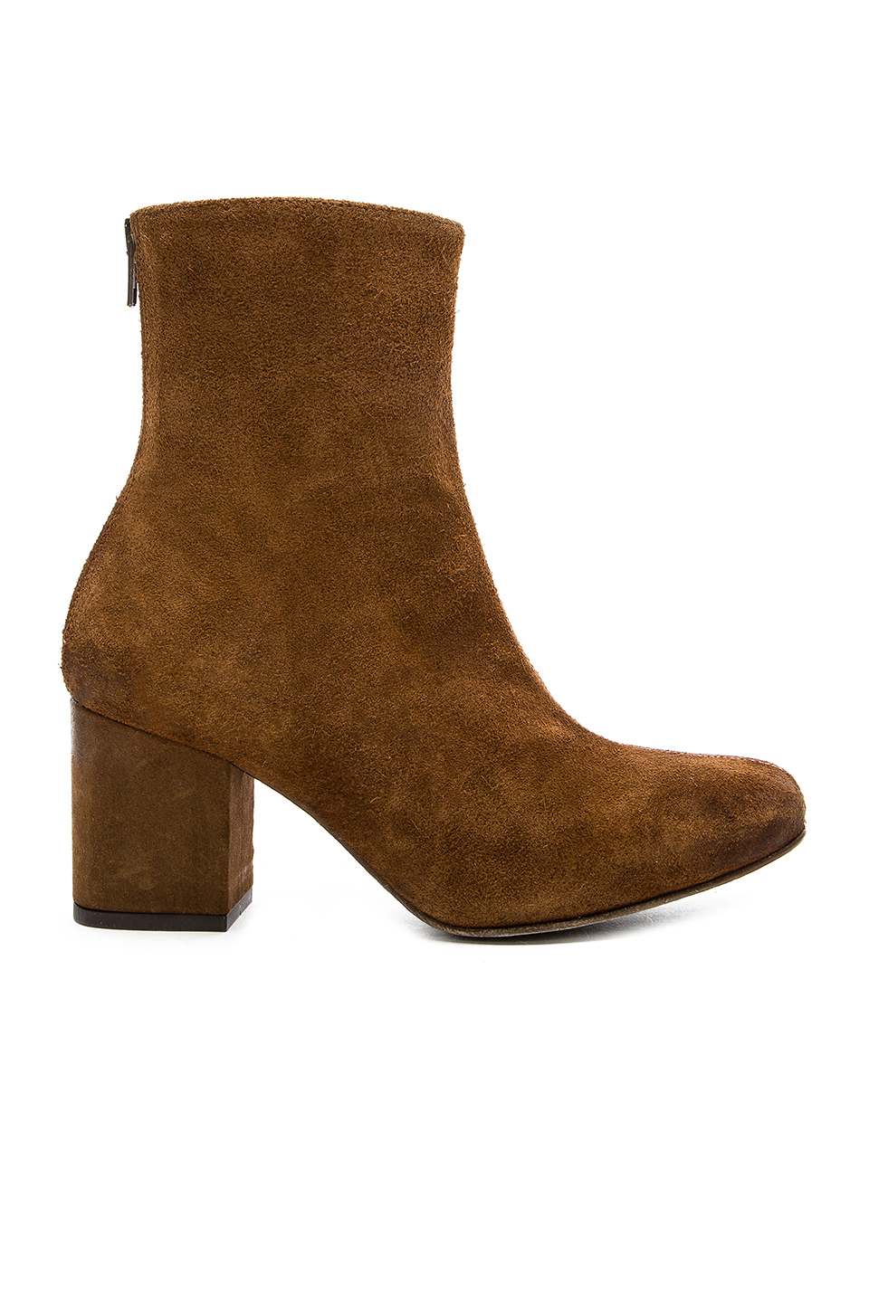 'Cecile' Block Heel Bootie (Women) in Brown