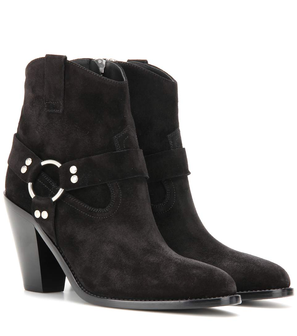 Curtis 80 Harness Suede Ankleboots, Black