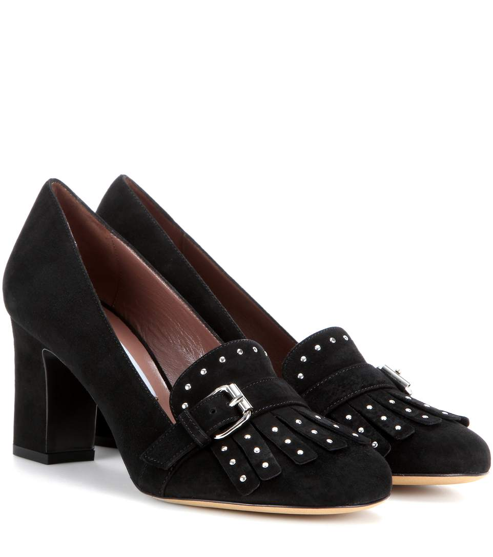 Tabitha Simmons Kiltie Suede Pumps 2014 unisex footlocker cheap price outlet purchase lGYSq