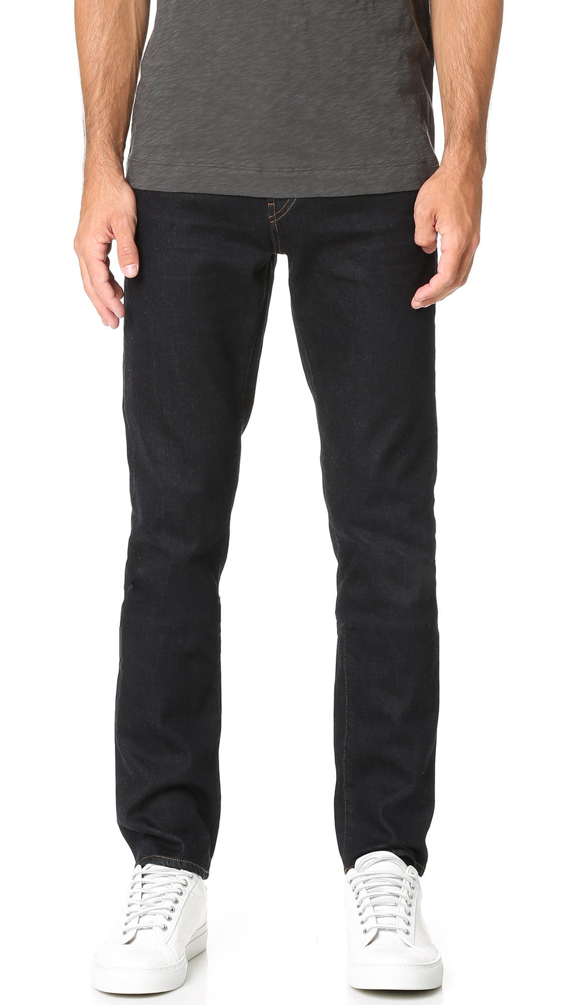 Tyler Taper Athletic Fit Jeans In Seriously Black in Blue