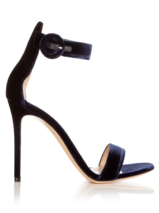 ffec2619861 GIANVITO ROSSI EXCLUSIVE TO MYTHERESA - PORTOFINO 85 VELVET SANDALS ...