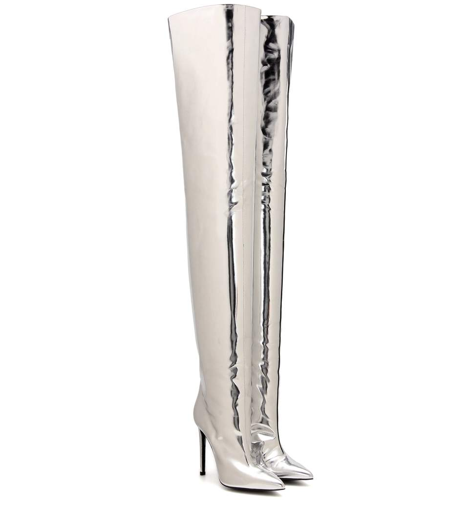 Balenciaga Leather Knee-High Boots Cheap Sale Low Shipping With Paypal Cheap Online 9FEZdd